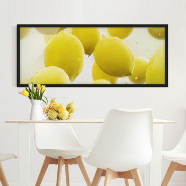Poster con cornice - Limone In Acqua - Panorama formato orizzontale