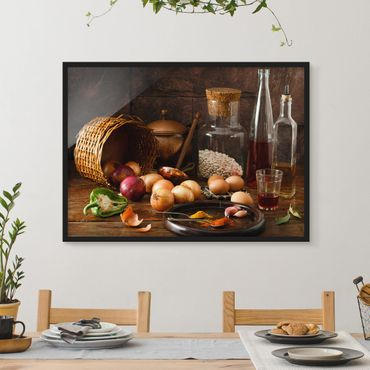Poster con cornice - Fragrances Cooking - Orizzontale 3:4