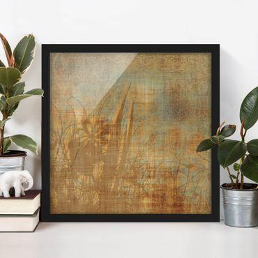 Poster con cornice - Flowers Beneath Ornament Structure - Quadrato 1:1