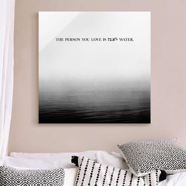 Quadro in vetro - Paesaggi lirici - Amore - Quadrato 1:1