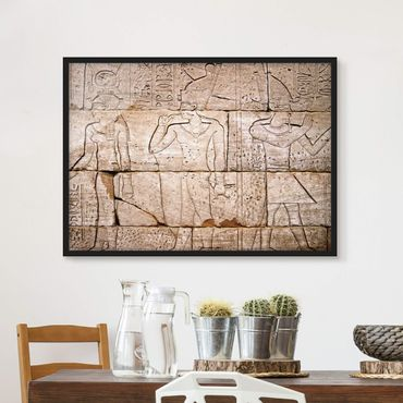 Poster con cornice - Egypt Relief - Orizzontale 3:4
