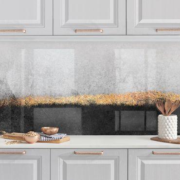Rivestimenti cucina - Estratto Golden Horizon Bianco e Nero