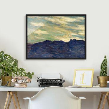 Poster con cornice - Claude Monet - Rock Sunset - Orizzontale 3:4