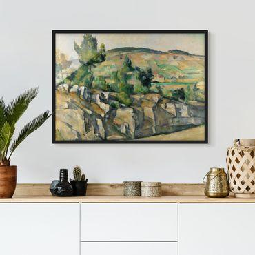 Poster con cornice - Paul Cézanne - Undulating Landscape - Orizzontale 3:4