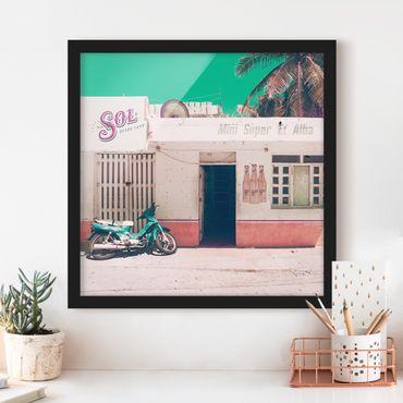 Poster con cornice - Mini Supermarket Vintage - Quadrato 1:1