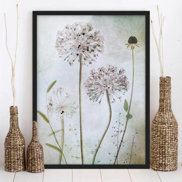 Poster con cornice - Leek Flowers In pastello - Verticale 4:3