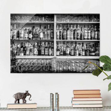 Quadro in vetro - Bar Black White - Orizzontale 3:2