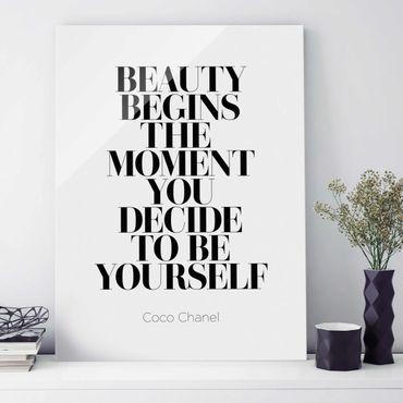 Quadro in vetro - Be Yourself Coco Chanel - Verticale 3:4