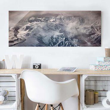 Quadro in vetro - Montagne del Tibet - Panoramico