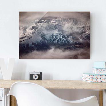 Quadro in vetro - Montagne del Tibet - Orizzontale 3:2