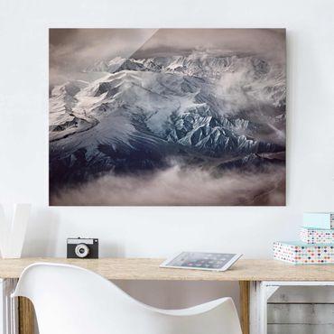 Quadro in vetro - Montagne del Tibet - Large 3:4