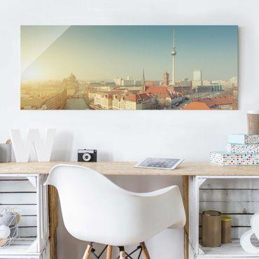 Quadro in vetro - Berlin morning - Panoramico