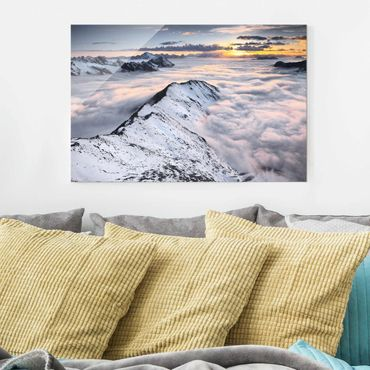 Quadro su vetro - View of clouds and mountains - Orizzontale 3:2