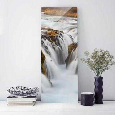 Quadro in vetro - Bruarfoss waterfall in Iceland - Pannello