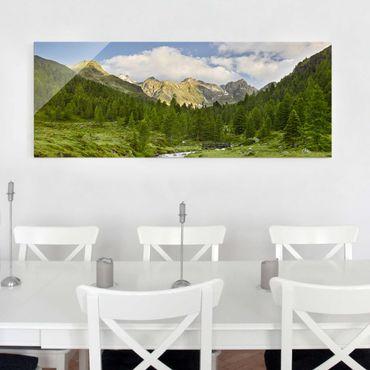 Quadro in vetro - Debanttal National Park Hohe Tauern - Panoramico