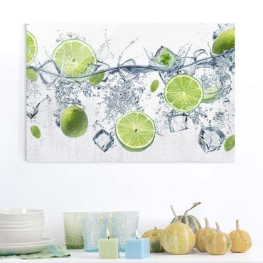 Quadro in vetro - Refreshing lime - Orizzontale 3:2