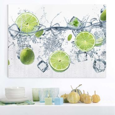 Quadro in vetro - Refreshing lime - Orizzontale 4:3