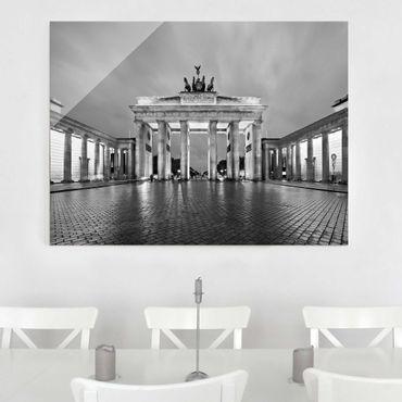Quadro su vetro Berlin - Illuminated Brandenburg Gate II - Orizzontale 4:3