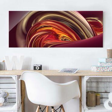 Quadro in vetro - Fantastic Burning - Panoramico