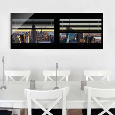 Quadro in vetro - Window blinds views - Manhattan View - Panoramico