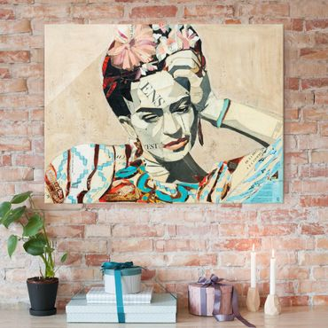 Quadro in vetro - Frida Kahlo - Collage No.1 - Large 3:4