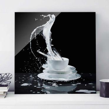 Quadro in vetro - Dishes With Detergent-Splash - Quadrato 1:1