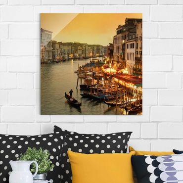 Quadro in vetro - Grand Canal of Venice - Quadrato 1:1