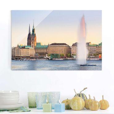 Quadro su vetro - Alster lake in Hamburg - Orizzontale 3:2