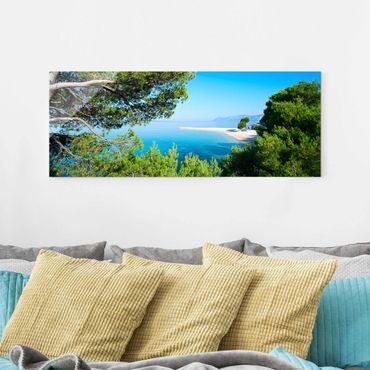 Quadro in vetro - Hidden Paradise - Panoramico