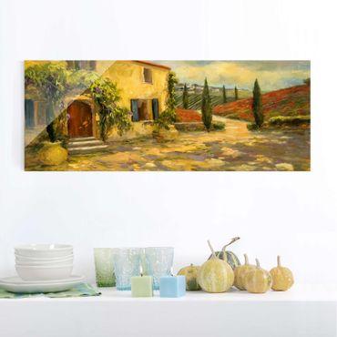 Quadro in vetro - Campagna Italiana - Toscana - Panoramico