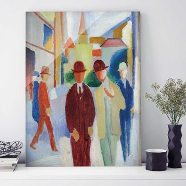 Quadro su vetro - August Macke - Bright Street with People - Verticale 3:4