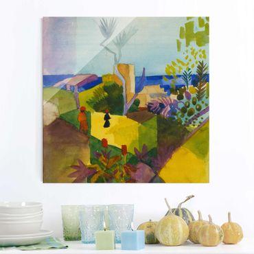 Quadro in vetro - August Macke - Landscape by the Sea - Quadrato 1:1