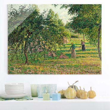 Quadro in vetro - Camille Pissarro - Meli e Voltafieno, Eragny - Impressionismo - Orizzontale 4:3