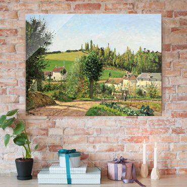 Quadro in vetro - Camille Pissarro - Piccolo Villaggio nei pressi di Pontoise - Impressionismo - Orizzontale 4:3
