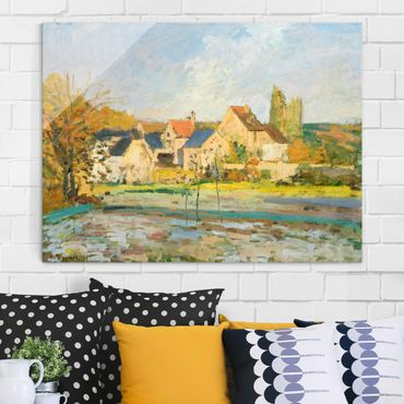 Quadro su vetro - Camille Pissarro - Paesaggio a Osny vicino Irrigazione - Impressionismo - Orizzontale 4:3