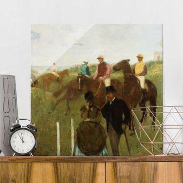 Quadro in vetro - Edgar Degas - Fantini alle Corse - Impressionismo - Quadrato 1:1