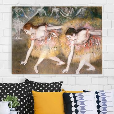 Quadro in vetro - Edgar Degas - Ballerini Chinandosi - Impressionismo - Orizzontale 4:3