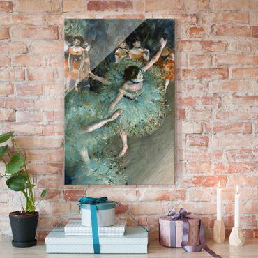 Quadro in vetro - Edgar Degas - Ballerina verde - Impressionismo - Verticale 2:3