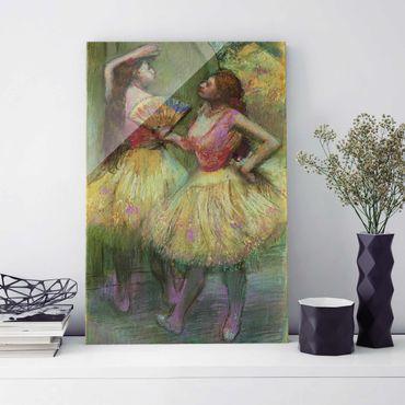 Quadro su vetro - Edgar Degas - Prima del Debutto (Due Ballerine) - Impressionismo - Verticale 2:3