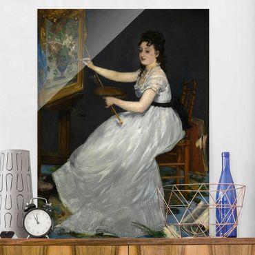 Quadro in vetro - Edouard Manet - Eva Gonzalès - Verticale 3:4