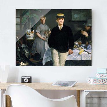 Quadro in vetro - Edouard Manet - Luncheon in the Studio - Orizzontale 4:3