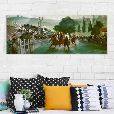 Quadro in vetro - Edouard Manet - Races at Longchamp - Panoramico
