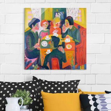 Quadro in vetro - Ernst Ludwig Kirchner - Coffee Table - Quadrato 1:1