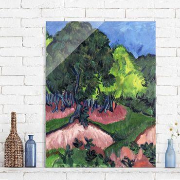 Quadro in vetro - Ernst Ludwig Kirchner - Landscape with Chestnut Tree - Verticale 3:4