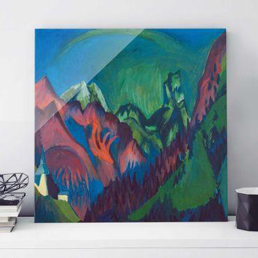 Quadro in vetro - Ernst Ludwig Kirchner - Tinzenhorn, Canyon near Monstein - Quadrato 1:1