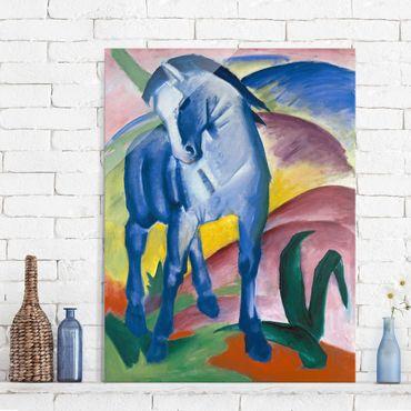 Quadro su vetro - Franz Marc - Cavallo Blu I - Espressionismo - Verticale 3:4