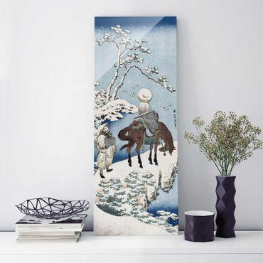 Quadro in vetro - Katsushika Hokusai - The Chinese Poet Su Dongpo - Pannello