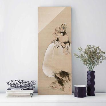 Quadro su vetro - Katsushika Hokusai - Hotei - Pannello