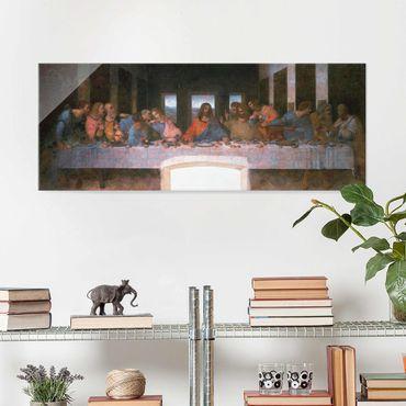 Quadro in vetro - Leonardo da Vinci - The last Supper - Panoramico
