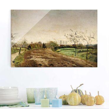 Quadro su vetro - Otto Modersohn - Morning Landscape with Carriage near Münster - Orizzontale 3:2